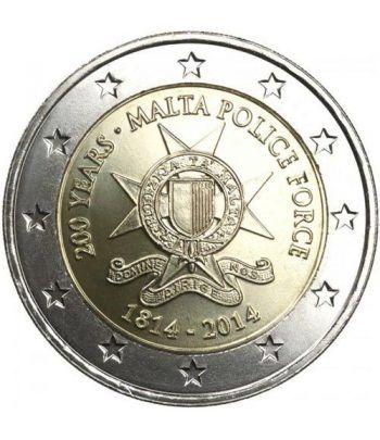 moneda conmemorativa 2 euros Malta 2014. Policia.  - 2