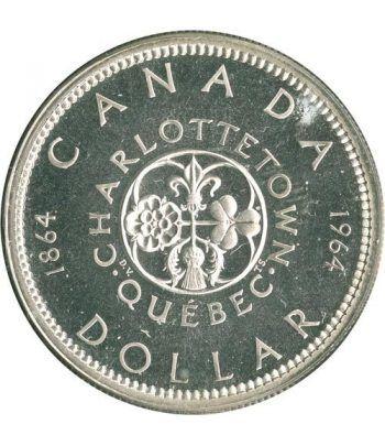 Canada 1$ 1964 100 Aniversario conferencia Quebec. Plata.  - 1