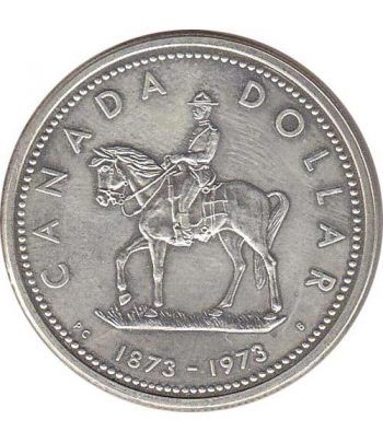 Canada 1$ 1973 100 Aniversario Policia Montada Canada. Plata.  - 1