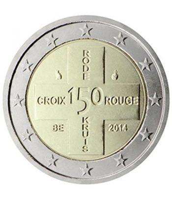 moneda conmemorativa 2 euros Belgica 2014. Cruz Roja.  - 2