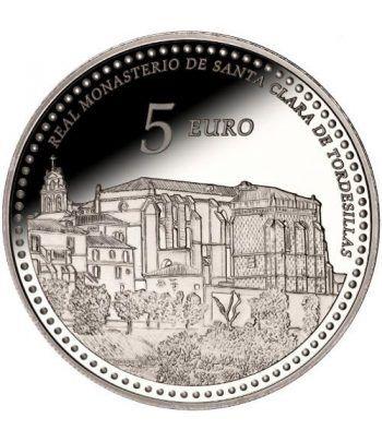 Moneda 2014 Patrimonio Nacional. Monasterio Tordesillas . 5 euro  - 1