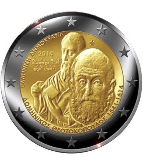 moneda conmemorativa 2 euros Grecia 2014. El Greco.  - 2