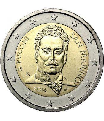 moneda conmemorativa 2 euros San Marino 2014. Puccini.  - 1