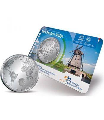 Holanda 5 Euros 2014 Molinos de Viento de Kinderdijk  - 2