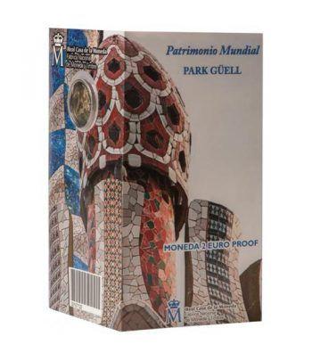 Cartera oficial euroset 2 Euros España 2014 Gaudí. Proof.  - 1
