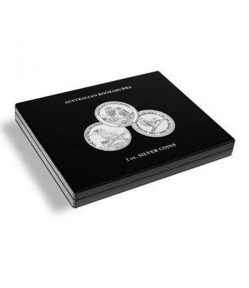 LEUCHTTURM Estuche de madera para 20 monedas Kookaburra. Estuche Monedas - 2