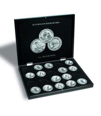 LEUCHTTURM Estuche de madera para 20 monedas Kookaburra. Estuche Monedas - 1