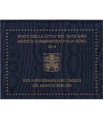 moneda conmemorativa 2 euros Vaticano 2014. Estuche Oficial.  - 2