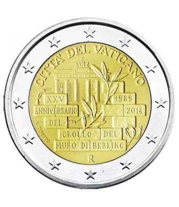 moneda conmemorativa 2 euros Vaticano 2014. Estuche Oficial.  - 4