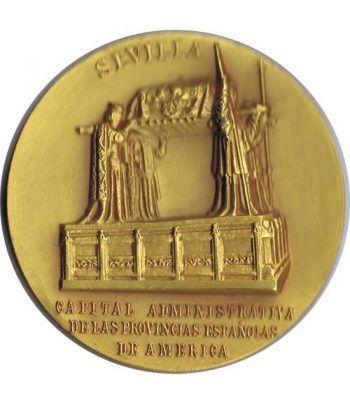 Medalla Sevilla Capital Administrativa. Bronce Dorado. Calicó  - 1