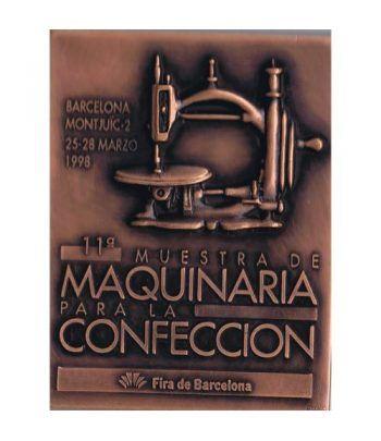Medalla Muestra de Maquinaria para la confección 1998. Bronce.  - 2
