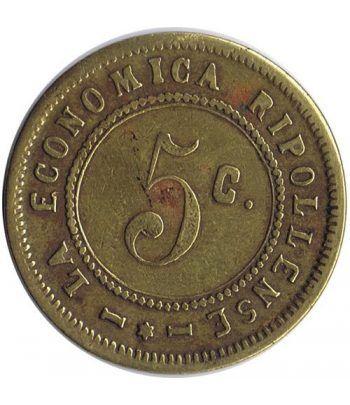 Moneda La Economica Ripollense. Cooperatismo. 5 centimos.  - 1