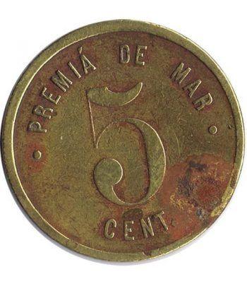 Moneda Cooperativa La Unión. Premiá de Mar. 5 cts. 1922  - 1