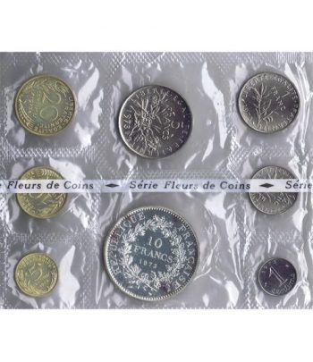 Estuche monedas Francia 1973. Flor de Cuño.  - 1