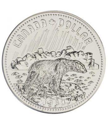 Canada 1$ 1980 Territorio Artico. Oso Polar. Plata  - 1