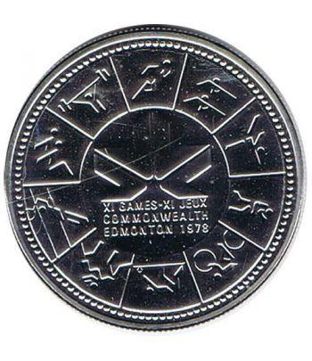 Canada 1$ 1978 XI Juegos de la Commonwealth. Plata.  - 1