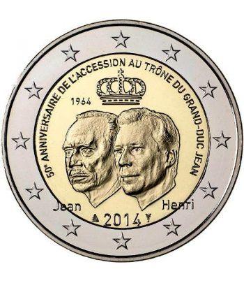 moneda conmemorativa 2 euros Luxemburgo 2014. Duque Jean.  - 2