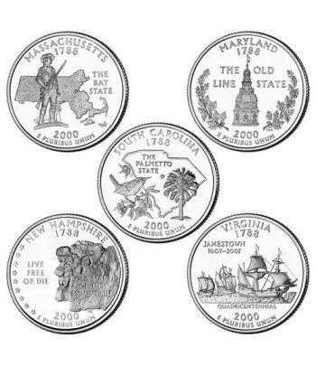 E.E.U.U. 1/4$ 2000 Statehood Quarters (5 monedas)  - 2