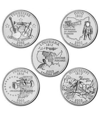 E.E.U.U. 1/4$ 2002 Statehood Quarters (5 monedas)  - 2