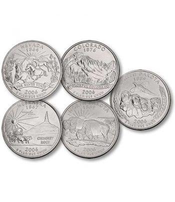 E.E.U.U. 1/4$ 2006 Statehood Quarters (5 monedas)  - 2