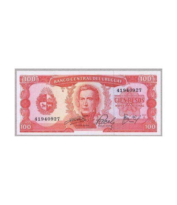 Uruguay 100 Pesos 1967. SC.  - 1