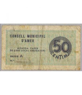 (1937) 50 centims de Pesseta. Consell Municipal d'Amer. MBC  - 1