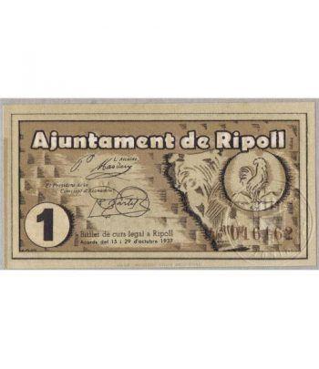 (1937) 1 Pesseta Ajuntament de Ripoll. SC  - 2