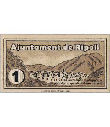 (1937) 1 Pesseta Ajuntament de Ripoll. SC  - 1