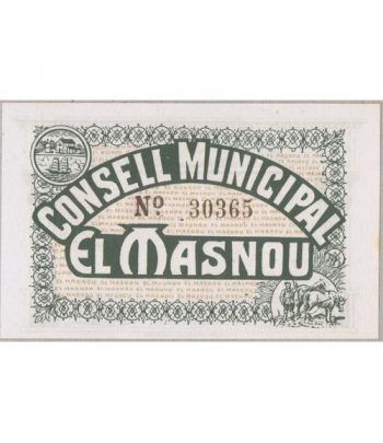 (1937) 25 centims Consell Municipal El Masnou. SC  - 1