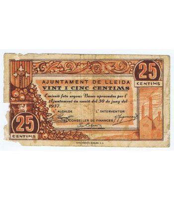 (1937/06/30) 25 centims Ajuntament de Lleida. MBC  - 1