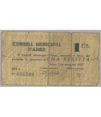 (1937) 1 Pesseta Consell Municipal d'Amer. MBC  - 1
