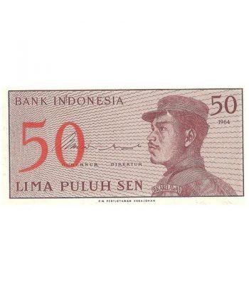 Indonesia 50 Sen. Lima Puluh Sen 1964. SC.  - 4