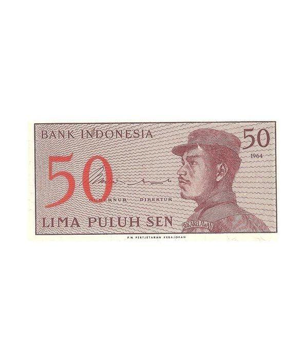 Indonesia 50 Sen. Lima Puluh Sen 1964. SC.  - 1