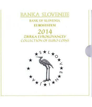 Cartera oficial euroset Eslovenia 2014 (incluye 2 y 3 euros)  - 1