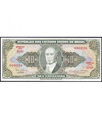 Brasil Provisional 1 Centavo en 10 Cruzeiros 1965 SC.  - 4
