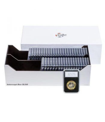 LEUCHTTURM Intercept Box SL 50 para 50 capsulas SLAB. Capsulas Monedas - 2