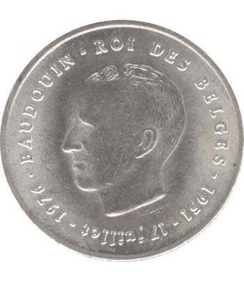 Belgica 250 Francos 1976 Balduino Roi de Belges. Plata.  - 1