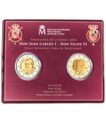 Cartera oficial euroset 2 Euros España 2014 Felipe VI  - 1