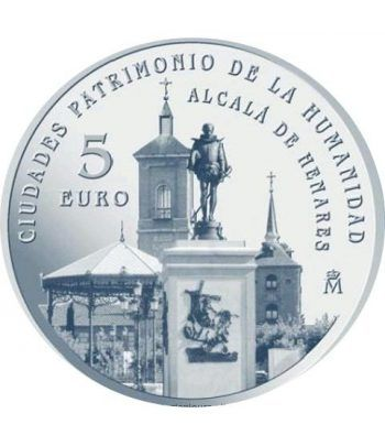 Moneda 2014 Patrimonio de la Humanidad. Alcala. 5 euros.  - 1