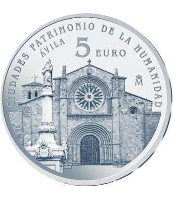 Moneda 2014 Patrimonio de la Humanidad. Avila. 5 euros.  - 1