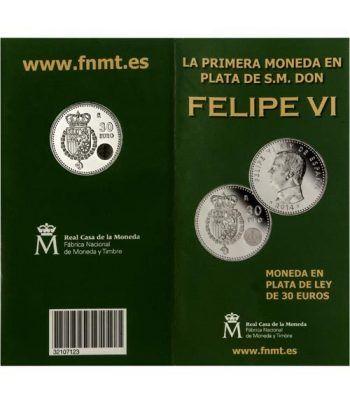 Cartera oficial euroset 30 Euros 2014 Felipe VI .  - 1
