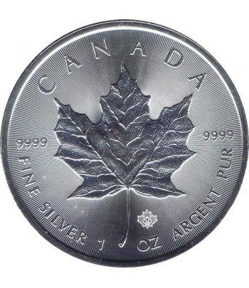 Moneda onza de plata 5$ Canada Hoja de Arce 2015  - 1