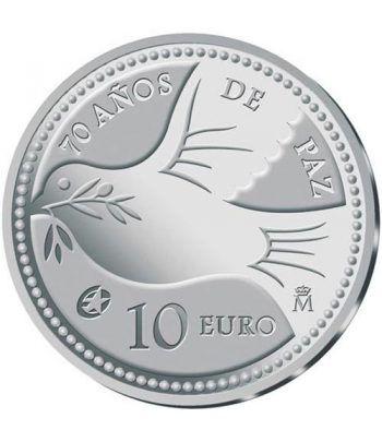 Moneda 2015 70 Años de Paz en Europa. 10 euros. Plata.  - 1