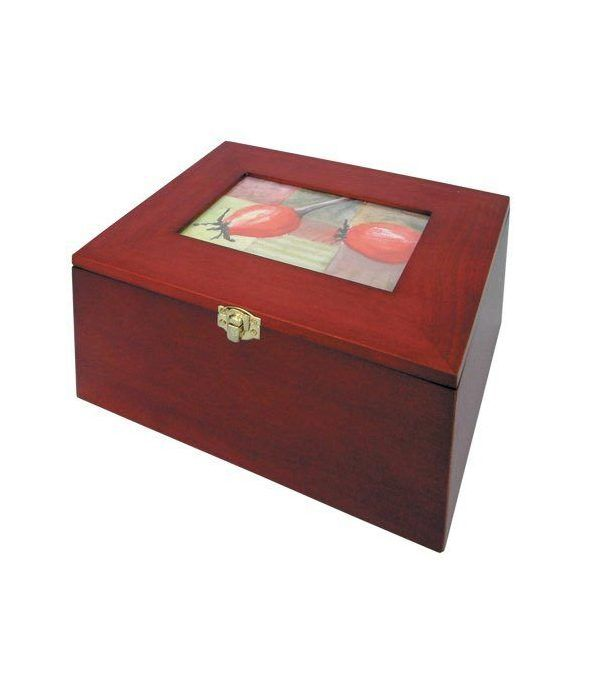 SAFE Cofre de madera para postales o fotografías.  - 2