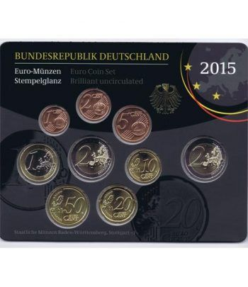 Cartera oficial euroset Alemania 2015 (5 cecas).  - 1