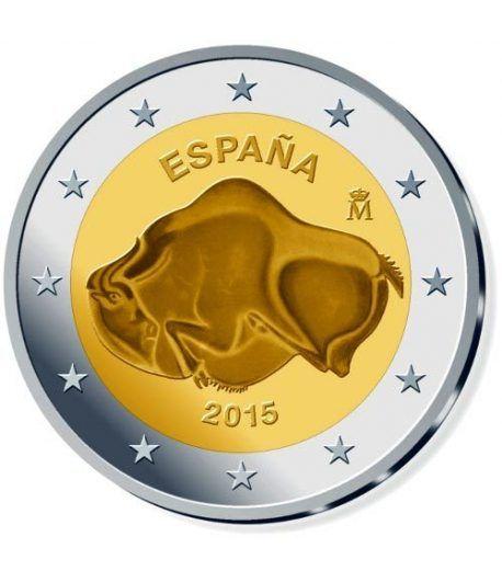 moneda conmemorativa 2 euros España 2015 Altamira.  - 2