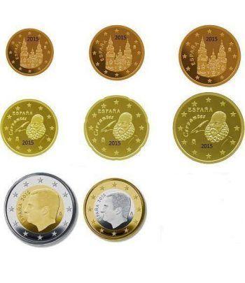 monedas euro serie España 2015  - 2