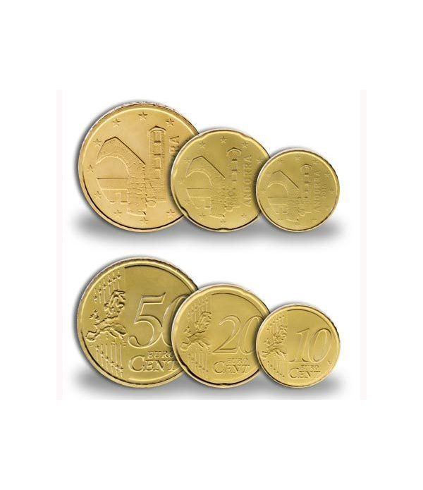 monedas euro centimos Andorra 2014 (10, 20 y 50 centimos)  - 2