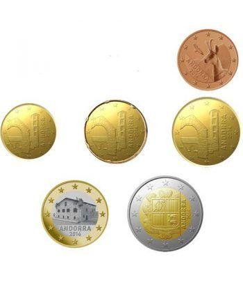 monedas euro serie Andorra 2014 (6 monedas)  - 2