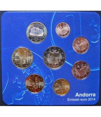 Monedas Euroset Andorra 2014 estuche residentes.  - 1